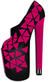 """""""B.I.P"""" Contrast Color Peep-toes (Pink)"""
