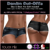 {Touch Mia} Denim Cut-Offs  *SPECIAL PRICE*