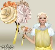 p.c; Antique Flower Bouquet