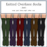 Sway's Knitted Overknee Socks - DARK / multi pack