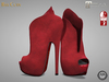 BAX Poppy Booties Red Suede