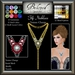 Beloved Jewelry : Fifi Necklace (Texture Change) Choice of Silver, Platinum, Gold, 12 Gem Choices. Amethyst