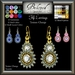 Beloved Jewelry : Fifi Earrings (Texture Change) Choice of Silver, Platinum, Gold, 12 Gem Choices. Amethyst