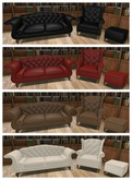 {ACD} Wing Back Sofa & Chair Leather PG V7