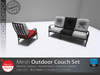[DD] - FULL PERM  Outdoor Couch Set
