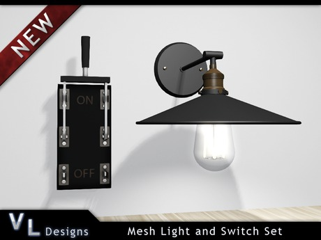Mesh Light and Switch Set - Full Perm Builders Edition