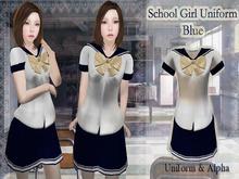 ~Kawaii Tofu~School Girl Uniform Blue