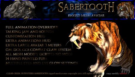 SABERTOOTH Avatar ~ Discounted