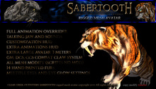 SABERTOOTH Avatar ~ (Boxed)