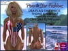 Us flag vert one piece swimsuit poster