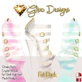 .:Glow Designs:. Straps Heels Crystal FATPACK PROMO!! PROMO!! for SLink High Feet