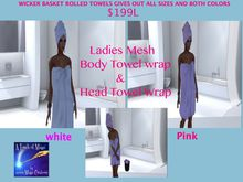 Ladies mesh towel and head wrap giver updated (bag)
