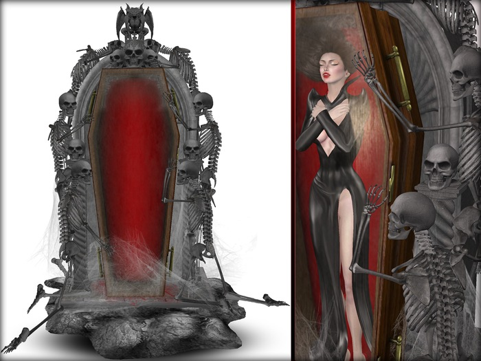 Boudoir-Wearable Vampire Coffin