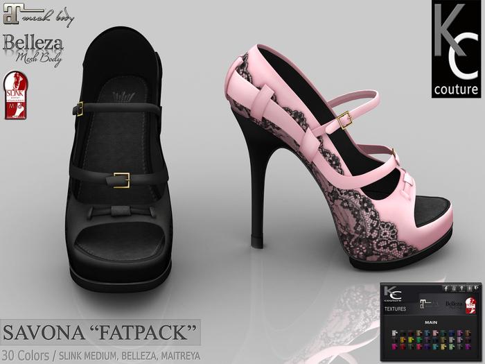 .:KC:. SAVONA Heels for Slink medium, Maitreya, Belleza / FATPACK