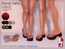 [M] Keirei Geta // Red [Made for Slink Flat Feet]