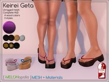 [M] Kirei Geta // Purple [Made for Slink Flat Feet]