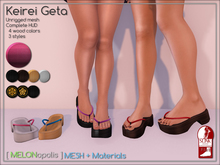 [M] Keirei Geta // Pink [Made for Slink Flat Feet]