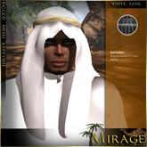 =Mirage= Rigged Keffyieh - White/Sand