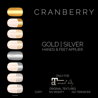 CRANBERRY - GOLD & SILVER NAILS