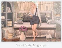Secret Body - Mug stripe/Blue pose