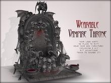 Boudoir-Wearable Vampire Throne