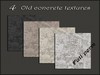 Pack 4 old concrete textures
