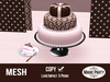 Pink & Brown Cake - Birthday [Mesh]
