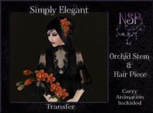NSP Orchid Stem & Hair Piece (Fuchsia Burst) boxed
