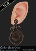 (LoD) Level of Detail - Gaia Earrings - Bronze