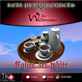 WIKO * Coffee set white - Kaffee-Set weiss [G&S] * 2 PRIMS * For real play, decoration, FUN and many more