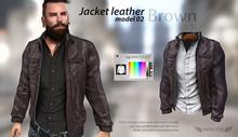 INVICTUS - Brown Jacket leathe - model 02