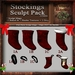 Christmas Stocking Sculpt Pack 1st Ed., Sculpted Stockings, 7 Sculpty Maps & 22 Textures Full Perms