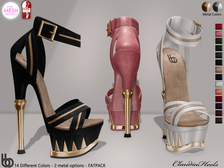 Bens Boutique - Claudia Heels (Slink High-TMP) FATPACK
