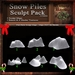 Christmas Snow Piles Sculpt Pack, Sculpted Snow,  6 Sculpty Maps, 12 Baked Textures Full Perms