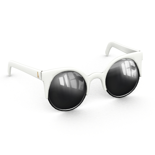 Amala - The Smitten Kitten Sunglasses - White