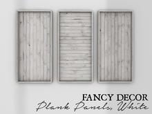 Fancy Decor: Plank Panels (white)