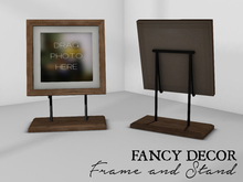 Fancy Decor: Frame & Stand