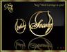 """RJ Mesh """"Sexy""""  Hoop Earrings (gold)"""