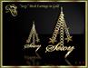 "RJ Mesh ""Sexy"" Star Earrings (gold)"