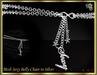 """RJ Mesh """"Sexy"""" Belly Chain (Silver)"""