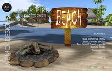 .:: AM ::. Outdoor Campfire - Scripted - Realistic flames -  full menu