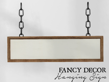 Fancy Decor: Hanging Sign