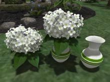 Hydrangea White in Vase - Mesh - Full Perm