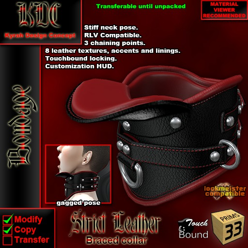 KDC Strict leather braced collar