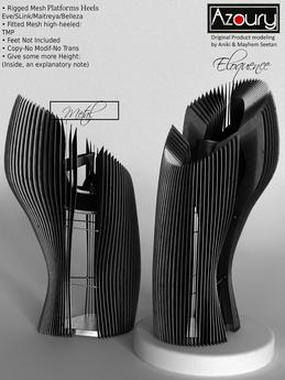 AZOURY - ELOQUENCE Platforms Heels (Metal)