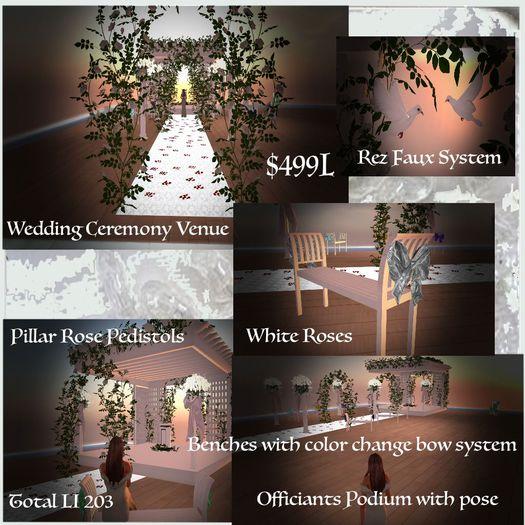 Wedding Ceremony White Roses Venue (Crated)