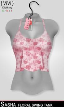 { ViVi } Sasha - Floral Swing Tank - Pink