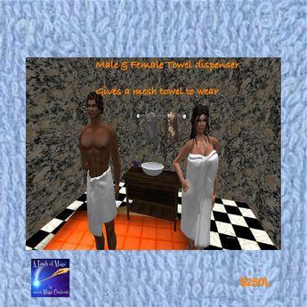 male & femal towel despenser