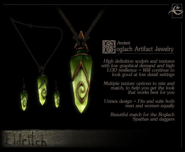 .Eldritch. Ancient Boglach Jewelry Set