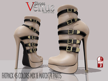 >VeNuS<>ShOeS<-SHOES ROXANNE FOR SLINK HIGH AND NATURAL FEET FATPACK 45 COLORS MIXED